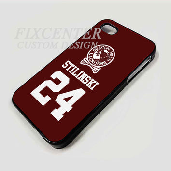 Teen Wolf Inspired Stiles Stilinski Jersey Beacon Hills Lacrosse case for  iPhone 4 Blackcase for iPhone 4/4S/5 iPod 4/5 Galaxy S2/S3/S4/Note HTC Blackberry