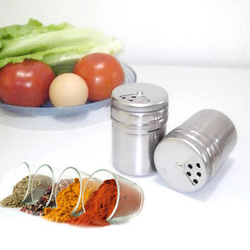 Multifunction Stainless Steel Salt Spice Dispenser Seasoning Extracts Toothpick Box Holder kitchen cooking tools