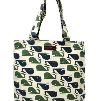 Bungalow360 Reversible Vegan Tote Bag (Whale)