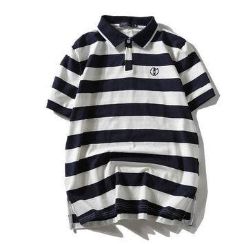Gotopfashion tommy hilfiger Polo Woman Men Stripe Short Sleeve Shirt Top Tee