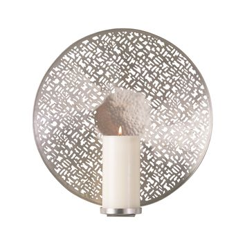 Lodi Antique Nickel Candle Wall Sconce by Global Views