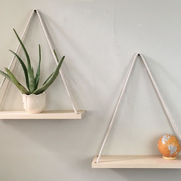 Bathroom Shelves, Planter, Solid Maple Hanging Planter, Wall Planter, Wood Shelves, Hanging Shelves, Bathroom Storage, Wall Decor, Hanging