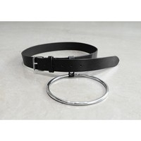 Mens High Quality Big Ring Leather Belt at Farixquare