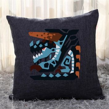 Achievement Icon, Monster Hunter Throw Pillow Cover