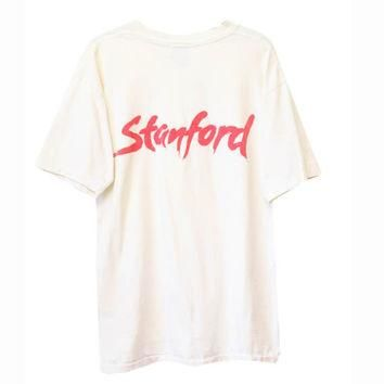 Vintage 80s Stanford University Adidas Tennis Tee T-Shirt | Adult Size XL | 1980s Retr