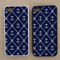 Preppy Nautical Anchor Pattern iPhone Case, iPhone 5 Case, iPhone 4S Case, iPhone 4 Case - SKU: 206