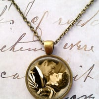 Gone With The Wind Necklace, Rhett Butler, Scarlett O'hara, Classic Movies, Whimsical, Victorian T435