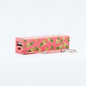 Audiology Portable Phone Charger in Pineapple Print - Urban Outfitters