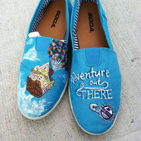 Disney's UP Custom hand painted acrylic canvas Shoes