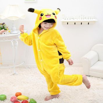 Hot Children   Dinosaur Onesuit Kids Girls Boys Warm Soft Cosplay Pajamas One Piece Sleepwear Halloween Costumes
