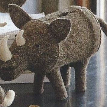 Rhino Felt Piggy Bank