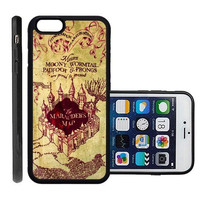 RCGrafix Brand Marauders Map Apple Iphone 6 Plus Protective Cell Phone Case Cover - Fits Apple Iphone 6 Plus