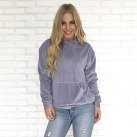 Day Dreaming Hoodie Sweater in Lilac