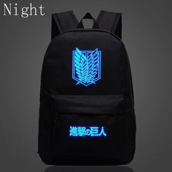 Cool Attack on Titan 2017 New Arrival  Backpack School Shoulder Bag Anime Printing Backpack For Teenagers Mochila Boys Girls Bags Gift AT_90_11