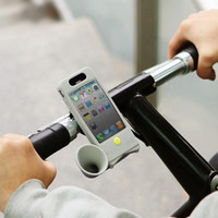 BIKE HORN STAND GRAY (PORTABLE AUDIO/CELLULAR ACCESSORIES)