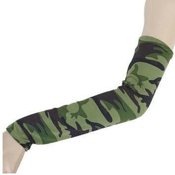 Hot 1Pair Camo UV Sun Protection Arm Cooling Sleeves Gloves Golf Bike Cycling Covers Useful High Quality
