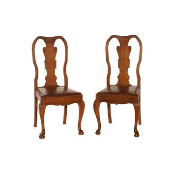 Pre-owned Queen Anne Charante Chairs - A Pair