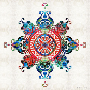 Colorful Pattern Art - Color Fusion Design 3 By Sharon Cummings