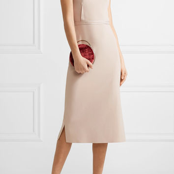 Elizabeth and James - Sierra strapless satin-trimmed crepe midi dress