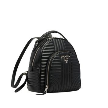 Prada Diagramme leather backpack