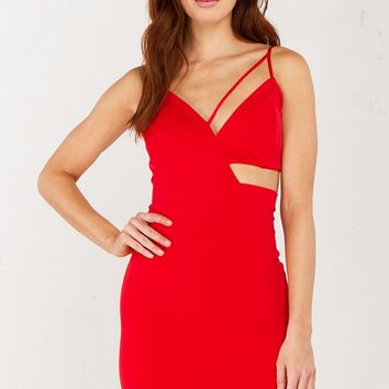 Cutout Dress in Red