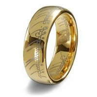 Cool Stuff - Blue Chip Unlimited - Unisex Collector's 8mm 18k Gold Plated Tungsten LOTR The One Ring Size 12