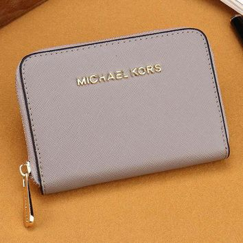 DCCKJ3V MK Women Leather Zipper Wallet Purse-19
