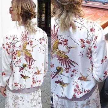 White Printed Jacket