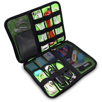 Cable, flash drive, sim card, and earbud organizer case. Clean up that cable drawer!