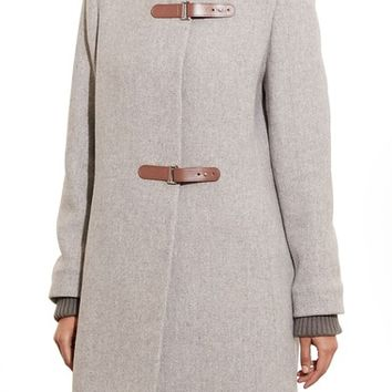 Lauren Ralph Lauren Funnel Neck Wool Coat | Nordstrom