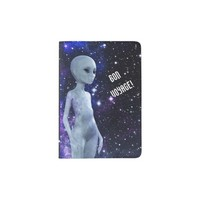 Outer Space Being on Passport Holder