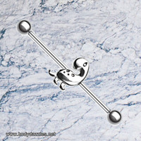 Daphne Dino Industrial Barbell 14ga Scaffold Piercing Body Jewelry 316L Surgical Stainless Steel