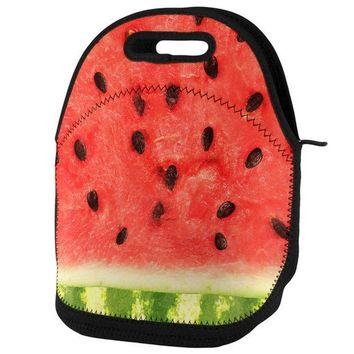 PEAPGQ9 Watermelon Lunch Tote Bag