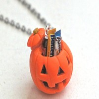 Jack O Lantern Necklace