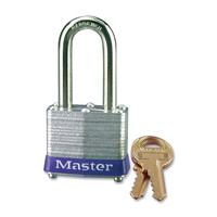 "Master Lock Padlock 1-9/16"" 9/32"" Dia. 1-1/2"" Keyed Different Carded"