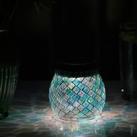 Glass Mosaic Solar T-light