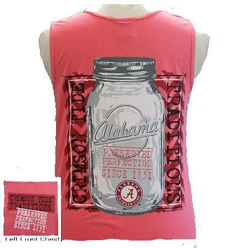 SALE Alabama Crimson Tide Preserved Perfection Bright Girlie Girl Tank Top