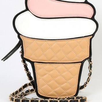 Soft Serve Ice Cream Crossbody Bag WHITE