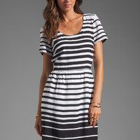 DV by Dolce Vita Adelaide Ascending Stripe T-Shirt Dress in Black/White from REVOLVEclothing.com