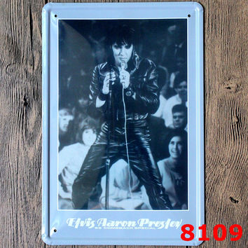 Famous Singer Wall Sticker American Famous POP STar printing Metal Painting Tin Sign Wall Decor Board Retro Pub & Bar Tin Poster