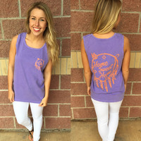 Home sweet home shield f/b comfort colors tank top-more colors