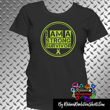 Lymphoma I am a Strong Survivor Shirts (Lyme Disease, Muscular Dystrophy and Mental Health Awareness)
