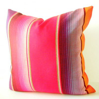 Red Tribal Pillow covers 20 Inch Aztec Mexican Ethnic Throw Boho Chic Decor Global Geometric Striped Purple red black orange green white