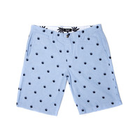HUF: Plantlife Embroidered Shorts - Blue Oxford