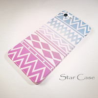 iPhone 4/ 4s and 5 Case - Pastel Tribal Geometric White - Cell Phone Cover - iPhone Hard Case - Aztec Pretty Girly Lilac Purple Neutral
