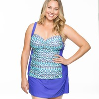 Molded Cup Tankini And Banded Skirted Bottom