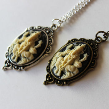 Ganesh Cameo Necklace in Bronze or Silver, Ganesh Cameo Necklace, Ganesh Necklace, Buddhism Jewelry, Hinduism Jewelry, Ganesha Necklace