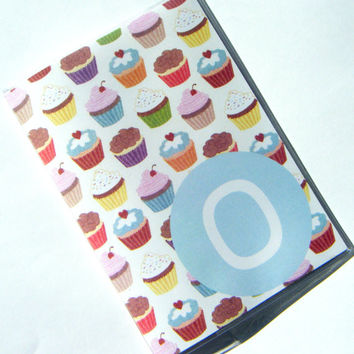 Custom Personalized Passport Cover Holder Case --  Cupcakes