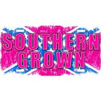 Southern Grown Embossed Aluminum Car Tag By Dixie Outfitters®