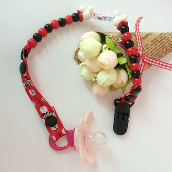 New Baby Pacifier Clip Pacifier Chain Hand Made Funny Colourful Beads Dummy Clip Baby Soother Holder For Baby Kid VCR20 P50